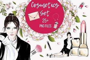 Luxurious cosmetics clipart