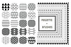 20 Patterns + 7 Brushes