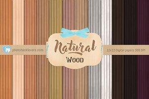 Natural Wood Digital Paper