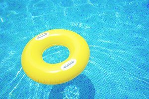 rubber ring in pool