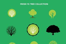 Fresh Tree Vector Set