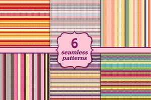 Set of 6 knitted backgrounds