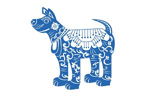 Dog. Chinese New Year Zodiac Symbol