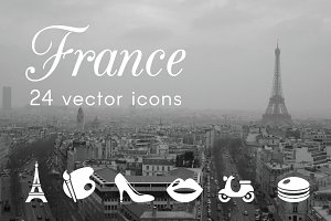 FRANCE - vector icons