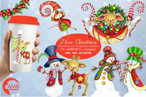 Christmas Water-Color Bundle 1673