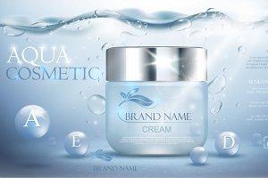 Aqua cream moisturizing cosmetic