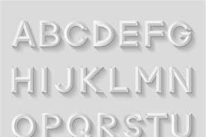 Decorative emboss alphabets