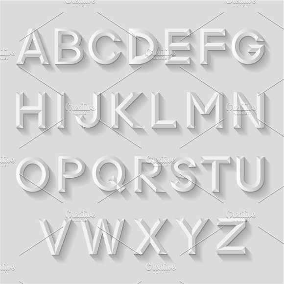 Decorative emboss alphabets