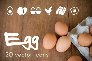 EGG - vector icons