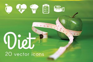 DIET - vector icons