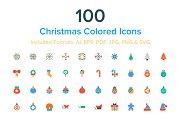 100 Christmas Colored Icons