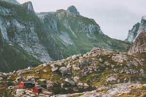 Mountains Landscape Munkebu hut