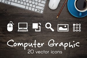 COMPUTER GRAPHIC - vector icons