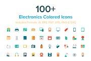 100+ Electronics Colored Icons