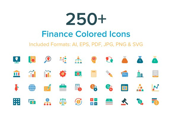 250+ Finance Colored Icons