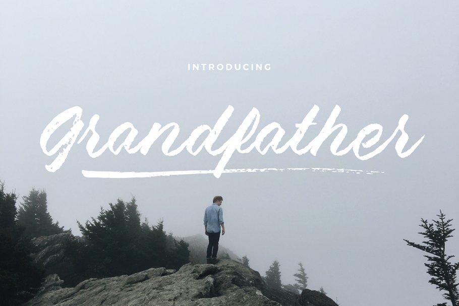 Grandfather - Brush Script