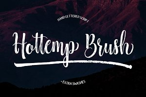 Hottemp Brush - Font Duo