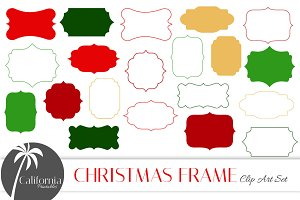 Christmas Frame Clip Art Set