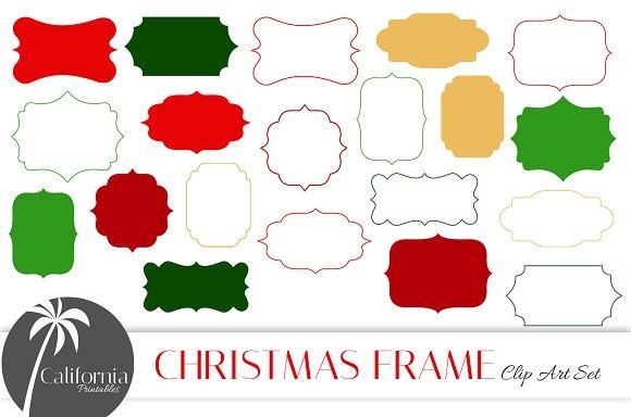 Christmas Frame Clip Art Set ~ Illustrations ~ Creative Market