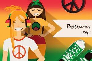 Rastafarian characters creation set