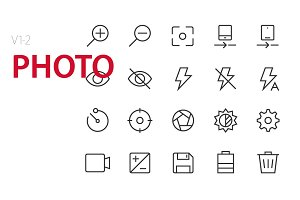 40 Photo UI icons