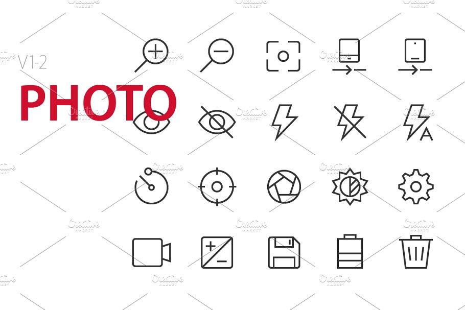 40 Photo UI icons