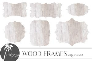 Wood Frames Clip Art Set