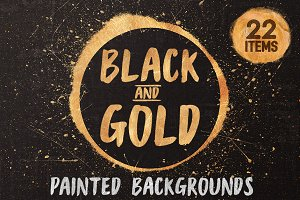 Black and Gold - painted textures