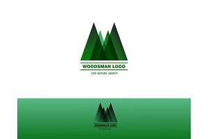 Woodsman green logo