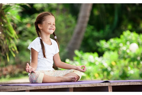 Child Doing Exercise On Platform Outdoors Healthy Lifestyle Yoga Girl High Quality People Images Creative Market