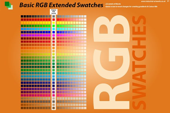 RGB Extended Swatches Illustrator