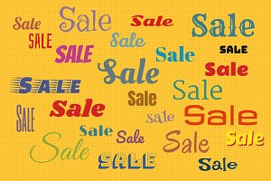 Sales background with color text