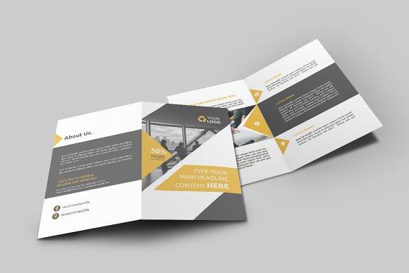 business bi fold brochure brochure templates creative market