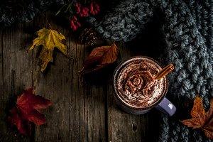 Spicy autumn hot chocolate