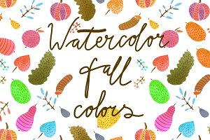 Watercolor fall colors