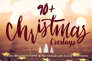 Hand Lettered Christmas Overlays 2