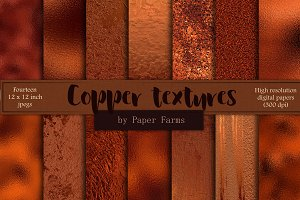 Copper foil textures
