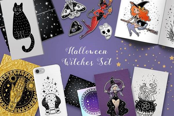 Halloween Witches Set