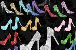 Diamond Shoes Clipart