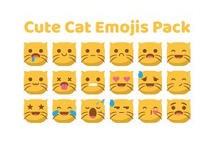 Cute Cat Emojis Pack