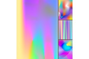 Universal holographic vector blur texture abstract color fills background surface illustration brochure.