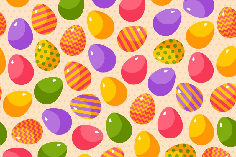 5 Easter Patterns Graphic Creative Market