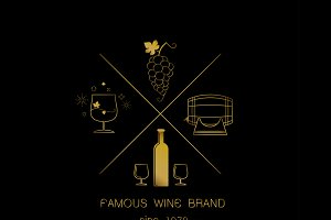 Emblems and logos of wine