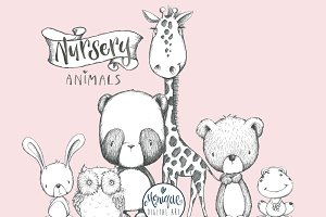 B&W Animals Clipart