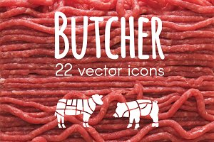 BUTCHER - vector icons
