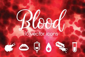 BLOOD - vector icons
