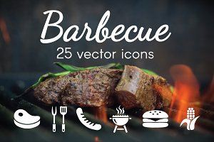 BARBECUE - vector icons