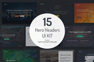 Minicraft - 15 Hero Headers UI Kit