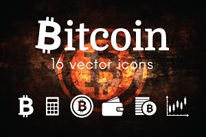 BITCOIN -  vector icons