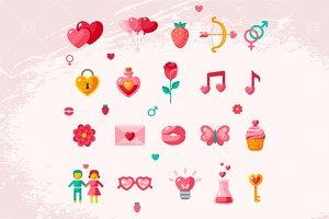 Valentine icons